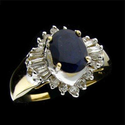 APP: 3.4k 14 kt. Gold, 1.02CT Sapphire & Diamond Ring
