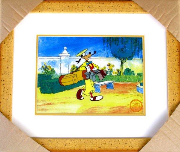 Limited Edition Walt Disney Goofy Serigraph Cel