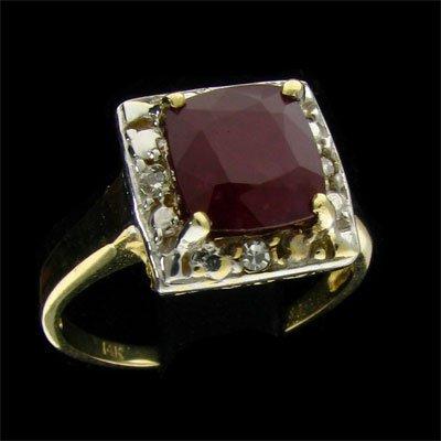 APP: 2.9k 14 kt. Gold, 2.47CT Ruby & Diamond Ring