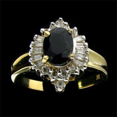 APP: 1.4k 14 kt. Gold, 0.95CT Sapphire & Diamond Ring