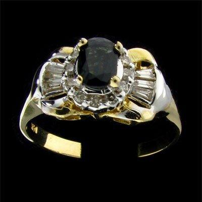 APP: 1k 14 kt. Gold, 0.47CT Sapphire & Diamond Ring