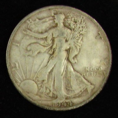 1944-S U.S. Walking Liberty Half Dollar Coin -Investmet