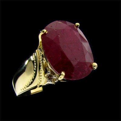 APP: 10.9k 14 kt. Gold, 7.72CT Ruby & Diamond Ring