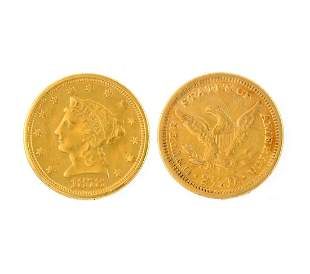 1878 $2.50 U.S. Liberty Gold Coin- Great Investment-