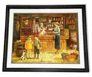 Lee Dubin- Framed Lithograph-Original Signature