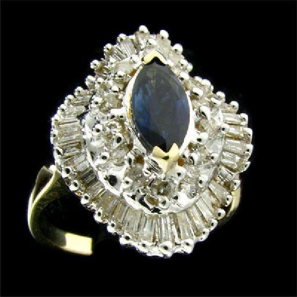 APP:$5.6k 14 kt. Gold, 1.52CT Sapphire & Diamond Ring