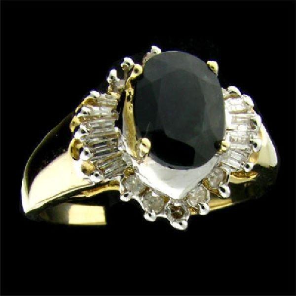 APP:$2.4k 14 kt. Gold, 1.52CT Sapphire & Diamond Ring