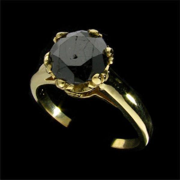 APP:$2.6k 14 kt. Gold, 1.88CT  Black Diamond Ring