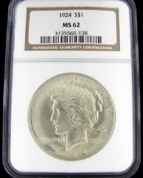 1924 U.S. Peace Silver Dollar Coin - Investment