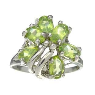 Fine Jewelry Designer Sebastian 2.64CT Oval Cut Green