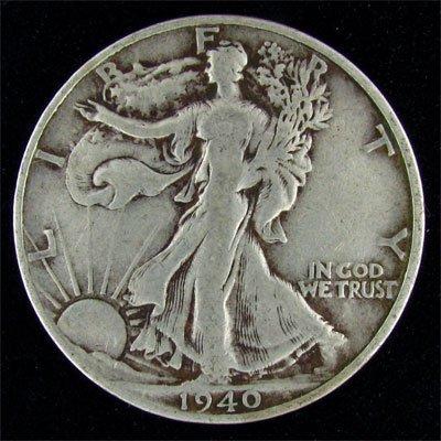1940-S U.S. Walking Liberty Half Dollar Coin - Invest