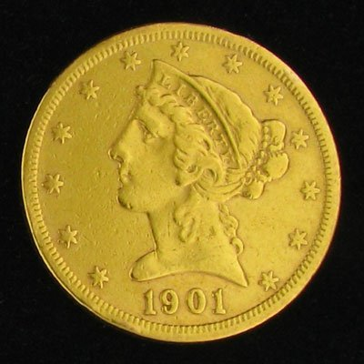1901-S $5 U.S. Liberty Head Type Gold Coin - Investment