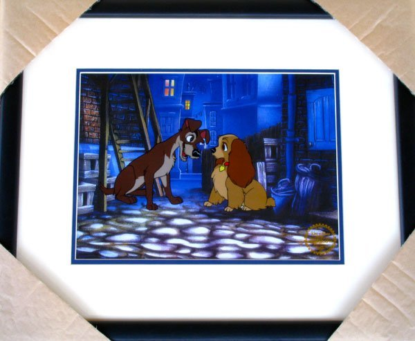 Limited Edition Walt Disney Lady & The Tramp Serigraph