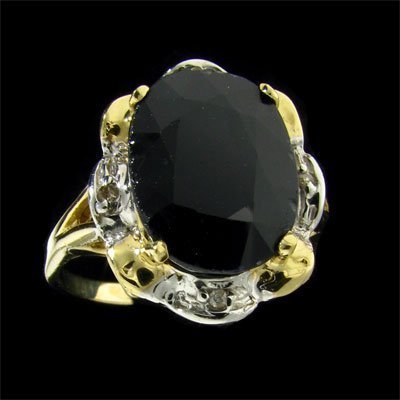 APP: 11.3k 14 kt. Gold, 6.50CT Sapphire & Diamond Ring