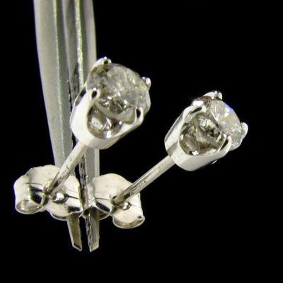 APP: 1.9k 14 kt. W Gold, 0.61CT Diamond Earrings