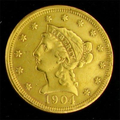 1904 $2.5 US Liberty Gold Coin - Investment