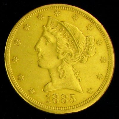 1885 $5 U.S. Liberty Head Type Gold Coin - Investment