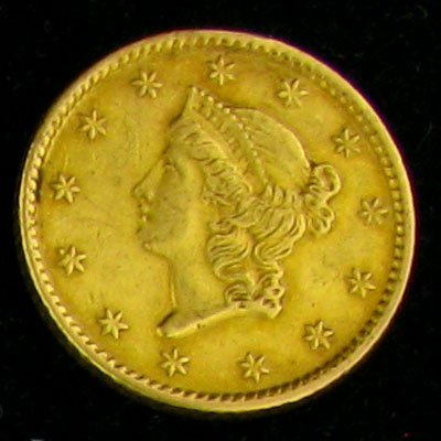 1853 $1 U.S. Liberty Gold Coin - Investment