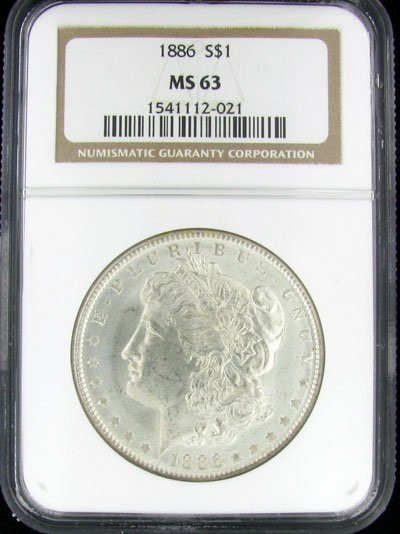 1886 U.S. Morgan Silver Dollar Coin - Investment