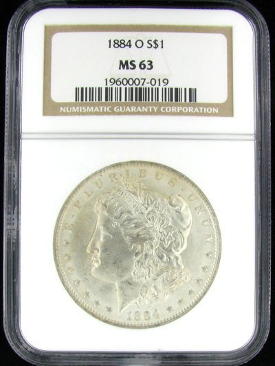 1884-O U.S. Morgan Silver Dollar Coin - Investment