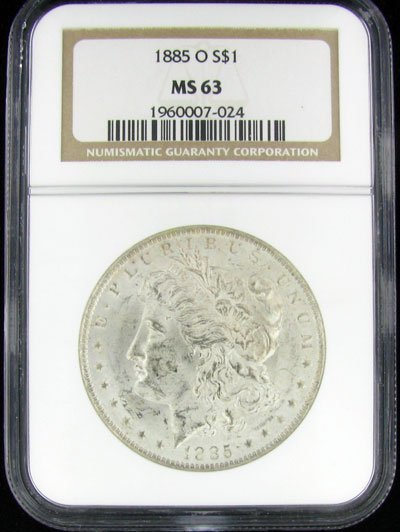 1885-O U.S. Morgan Silver Dollar Coin - Investment