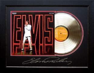 *Rare Elvis Presley NBC TV Special Album Cover and Gold