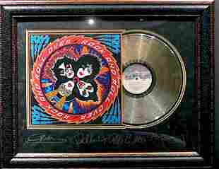 *Rare KISS Rock and Roll Over Album Cover and Gold