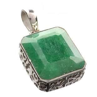 Designer Sebastian 23.85CT Rectangular Cut Green Beryl