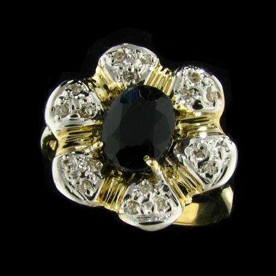 APP: 2.2k 14 kt. Gold, 1.56CT Sapphire & Diamond Ring