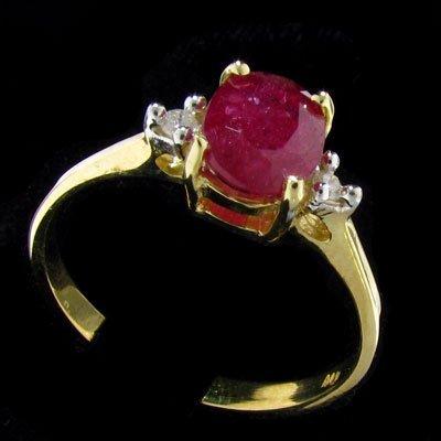14 kt. Gold, Ruby & Diamond Ring - Precious Gems