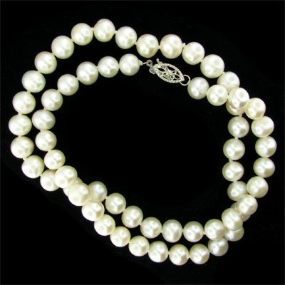 """17"""" Pearl Necklace - Long Strand"""