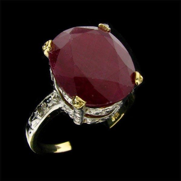 APP: 8.3k 14 kt. Gold, 10.97CT Ruby & Diamond Ring