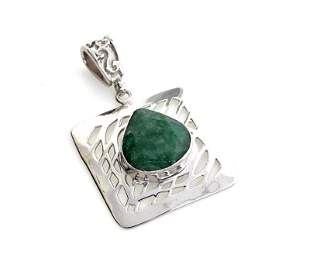 Fine Jewelry Designer Sebastian 9.60CT Pear Cut Green