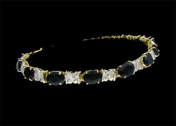 APP:6.7k 14 kt.Y/W Gold, 12.04CT Sapp. & Dia. Bracelet