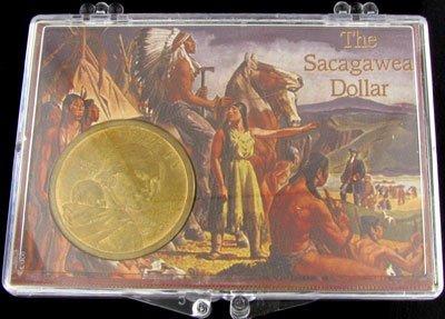 2000 Sacagawea Dollar in Snaplock Display