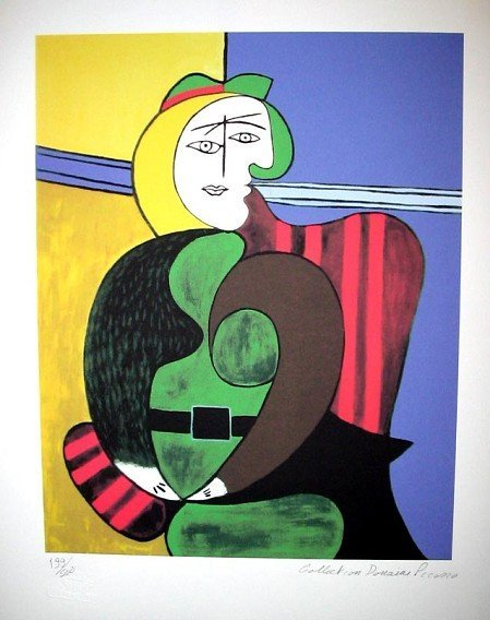PABLO PICASSO The Red Armchair Print, Limited Edition