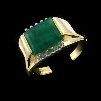 APP: 9.5k 14 kt. Y/W Gold 3.70CT Emerald & Diamond Ring