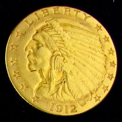 1912 $2.5 U.S. Indian Gold Coin