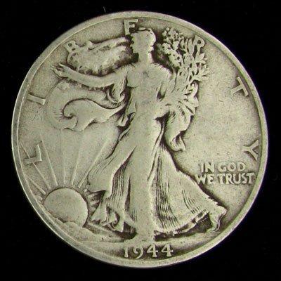 1944-S U.S. Walking Liberty Half Dollar Coin