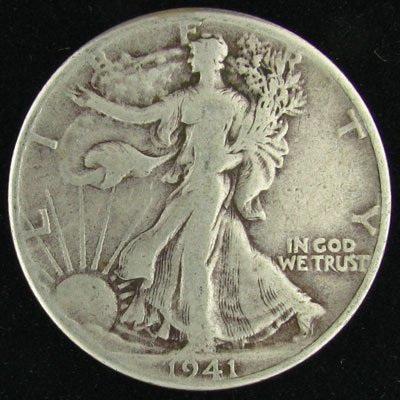 1941 U.S. Walking Liberty Half Dollar Coin