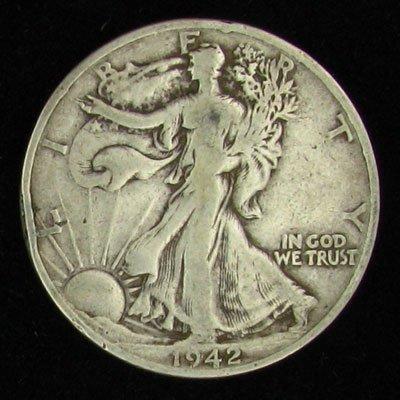 1942-D U.S. Walking Liberty Half Dollar Coin