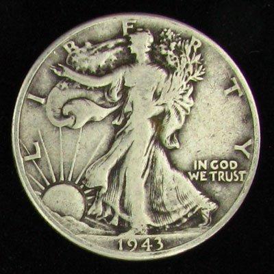 1943 U.S. Walking Liberty Half Dollar Coin