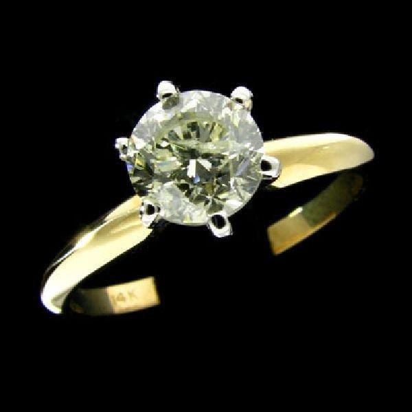 APP: 9.7k 14 kt. Gold, 1.01CT Round Diamond Ring