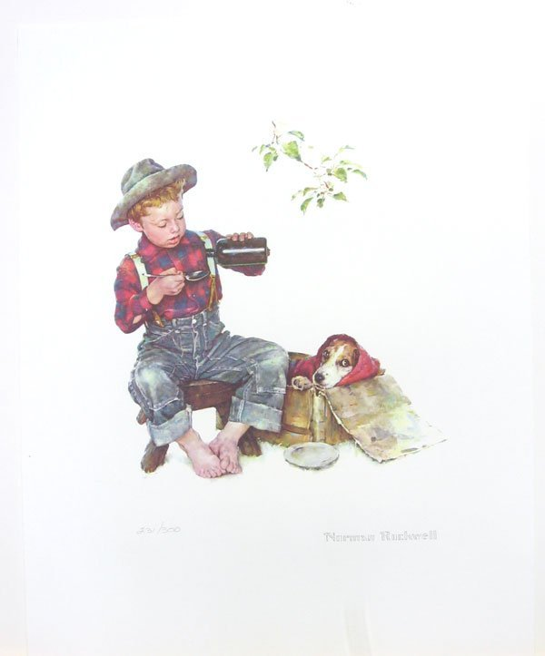 NORMAN ROCKWELL Puppy Love Suite - Mysterious Malady
