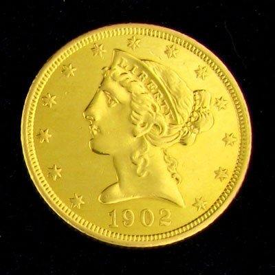 1902-S $5 U.S. Liberty Head Type Gold Coin - Investment