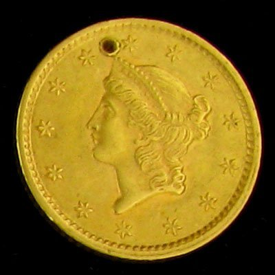 1852 $1 U.S. Liberty Gold Coin - Investment