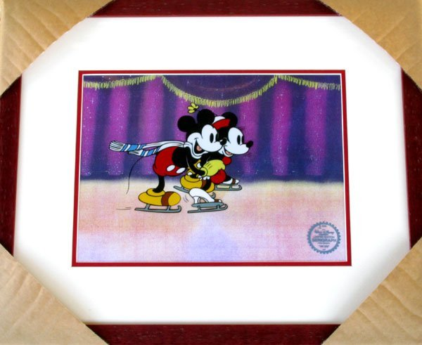 Limited Ed. Walt Disney Mickey & Minnie Mouse Serigraph