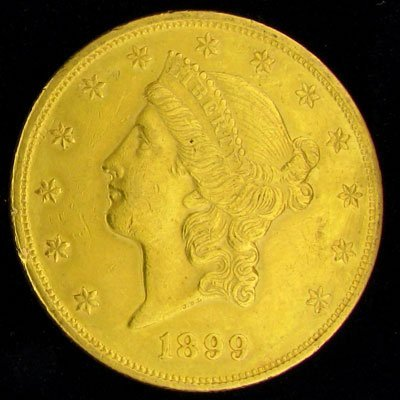 1899 $20 US Liberty Head Type Gold Coin - Investment