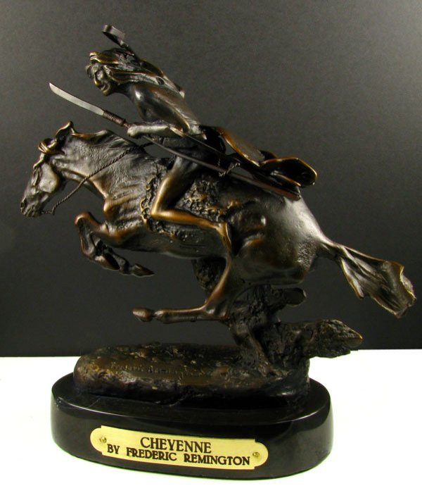 Frederic Remington Bronze Reproduction - Cheyenne