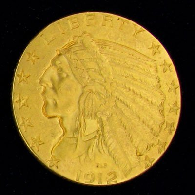 1912 $5 U.S. Liberty Head Gold Coin - Investment